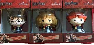 Juego De 3 Adornos Harry Potter Ron Weasley Hermione Gran!
