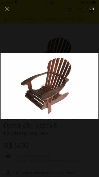2 Cadeiras Pavão - Madeira Demolição - Parcelamento
