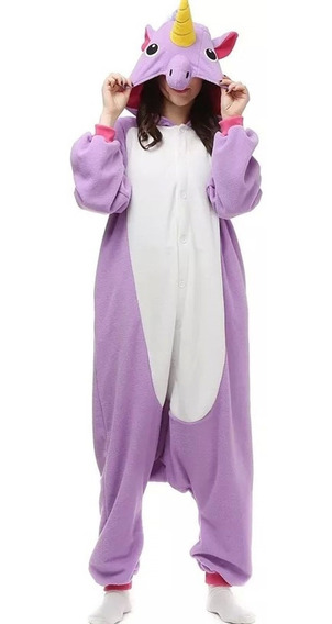 Unicórnio Pijama Macacão Kigurumi Adulto Unissex P/ Entrega