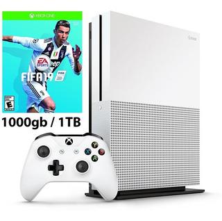 Consola Xbox One S 1tb + Fifa 19 + Control Nuevo Domicilio