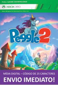 Xbox 360 Game Peggle 2 Mídia Digital 25 Dígitos