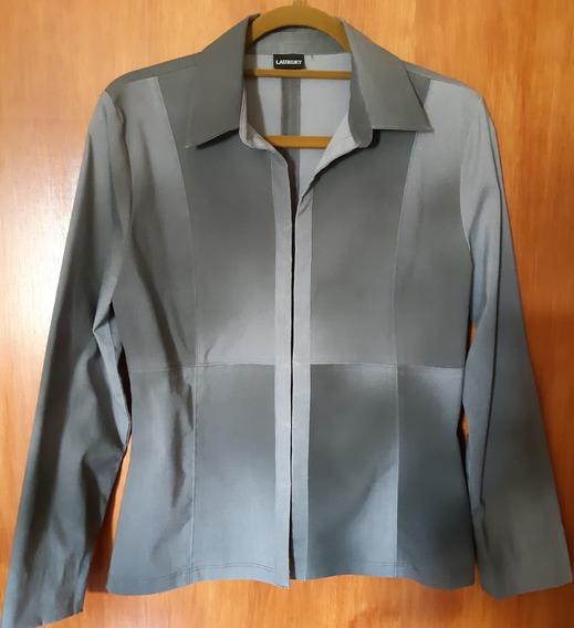 Blazer Laundry - Cinza Chumbo - Microfibra - Feminino