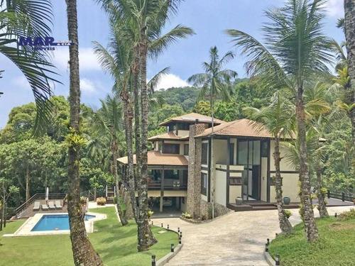 Casa Com 5 Dormitórios À Venda, 1700 M² Por R$ 11.000.000,00 - Tijucopava - Guarujá/sp - Ca0683