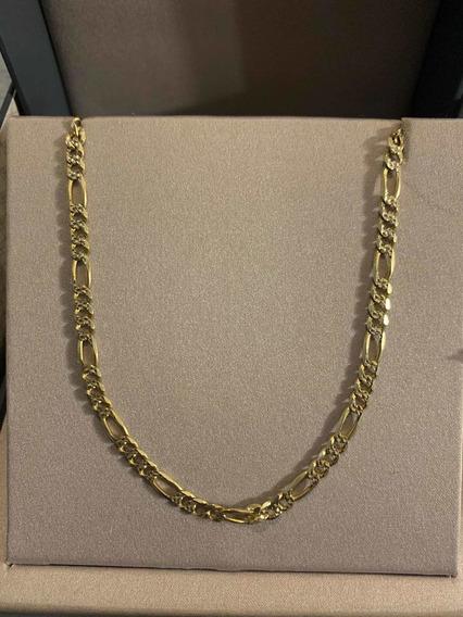 Cadena De Oro 14k, 20 Grms, Diamantada, Tejido Cartier