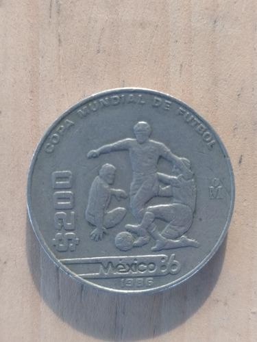 Moneda De $200 Mexico Mundial De Fútbol De 1986