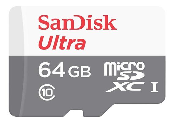 Cartão Memória Sandisk Micro Sd 64gb Class10 Full Hd 80mb/s
