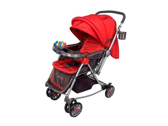 Coche Happy Baby Mecedora 7035 2 En 1 Lineas Rojo
