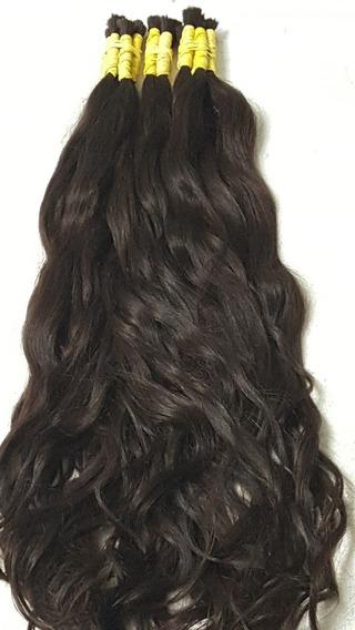 Cabelo Humano Para Mega Hair Virgem Ondulado 50/55cm -50gr