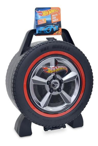 Maleta Hot Wheels Roda Radical 36 Carros - Fun Divirta-se