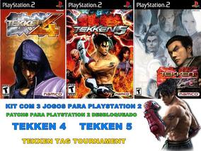 Kit Com 3 Jogos Tekken Para Playstation 2