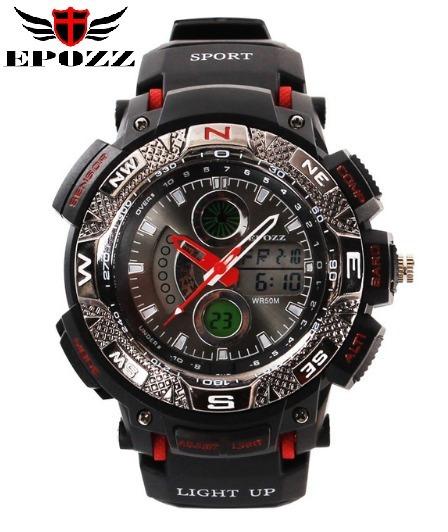 Relógio De Pulso Eletrônico Epozz Ep-1311 Preto E Vermelho