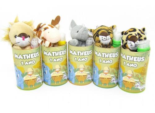 Imagem 1 de 4 de Kit Safari Pelúcia No Cofrinho 25 Kits