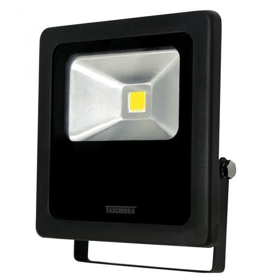 Refletor Led 30w Bivolt Tr Taschibra 3000k Luz Amarela Gg