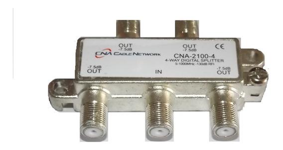 Splitter Domiciliario 4 Vias Tvcable (5und) Cna 5-1000 Mhz S