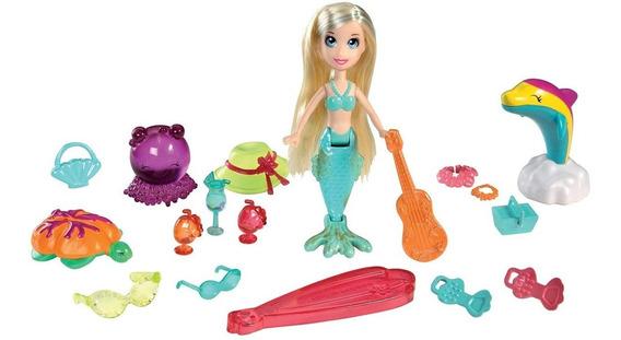 Boneca Polly Pocket Sereia Mundo Aquático Mattel