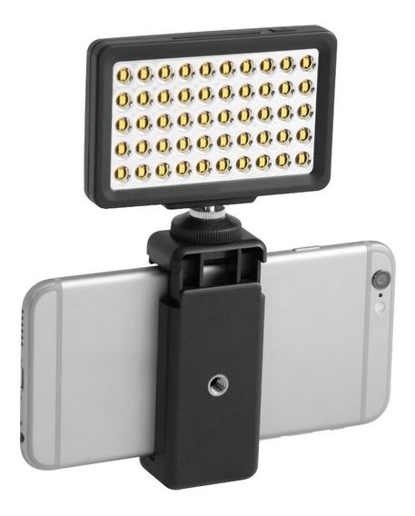 Luz 50 Led Para Smartphones Y Cámaras Ilumina 8 Niveles Msi