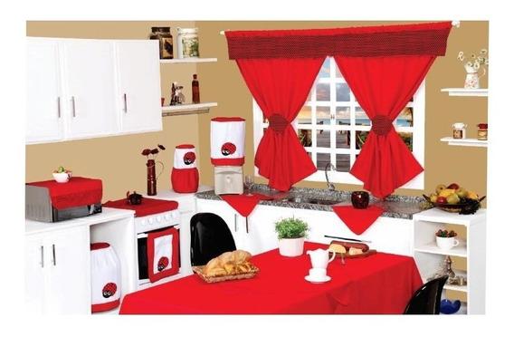 Jogo De Cozinha Kit Completo 12 Peças C/cortina