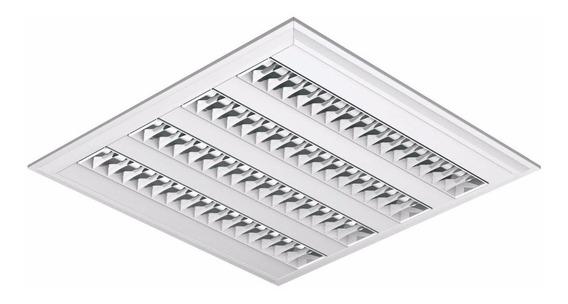 Luminaria Embutir Quadrada Led Abalux E04 4x14w + Lâmpada T5