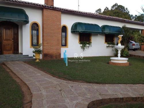 Chácara Com 4 Dormitórios À Venda, 5180 M² Por R$ 1.800.000,00 - Colinas Do Mosteiro De Itaici - Indaiatuba/sp - Ch0062