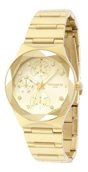 Relógio Feminino Technos Elegance Crystal 6p27dq/4x-dourado