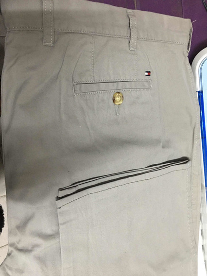 Pantalon Tommy Hilfinger Talle Grande Color Beige De Vestir