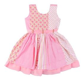 Kit 3 Vestidos Menina Bebê Floral Com Babadinho Atacado