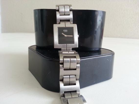 Relógio Esq By Movado Lindo E Elegante Quartz Swiss Original