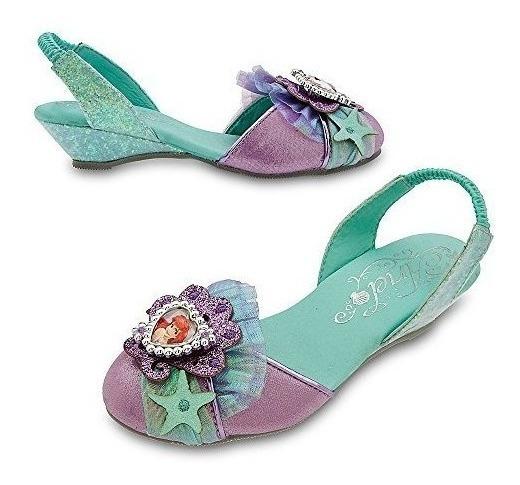Disney Store Deluxe Ariel La Sirenita Slingback Zapatos Taco