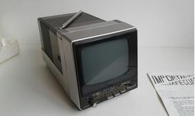 Mini Tv/radio Panassonic Trg 513t Com Caixa E Manual