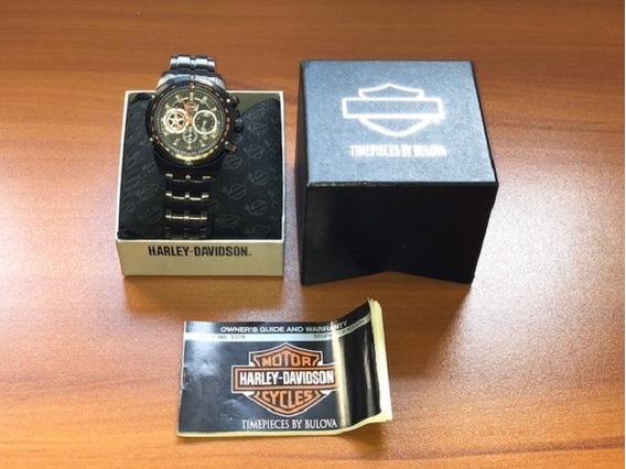 Relógio Bulova Original Harley Davidson - Usado - Preto