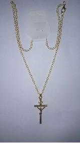 Cordao Dourado Com Crucifixo (cx-xx), Cod. 00071