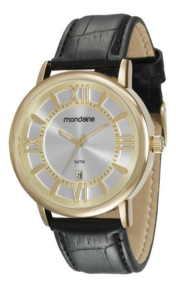 Relógio Masculino Pulseira De Couro Mondaine 83357gpmvdh2