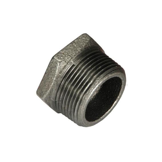 Reducción Bushing Galvanizado 3/4 - 3/8 Pulg Negro Metaux