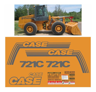 Kit Adesivo Pá Carregadeira Case 721c Completo + Etiqueta Mk