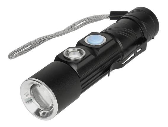 Lanterna Luz Extra Forte Recarregável Usb Tática Guepardo