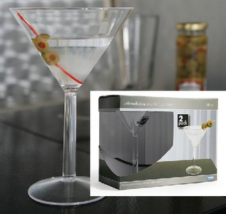 Camco 43901 10 Oz Policarbonato Martini Glass - 2 Pack