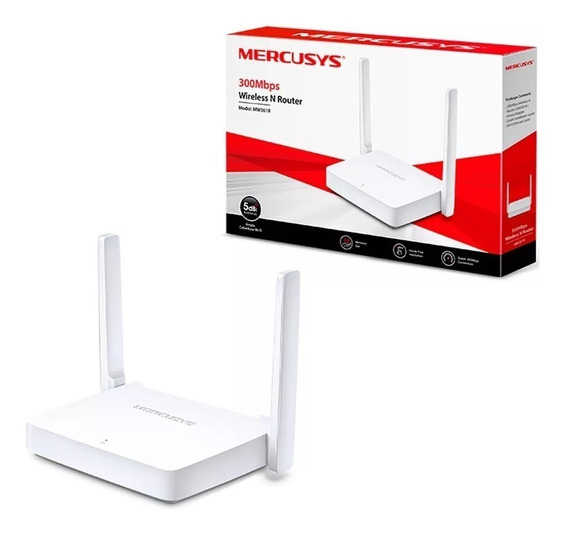 Roteador Tp-link Mercusys Wifi Mw301r Wireless 2 Antenas Red