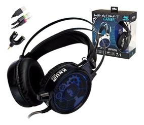 Acessórios Para Games-headset 7.1 Base Vibration Kp402