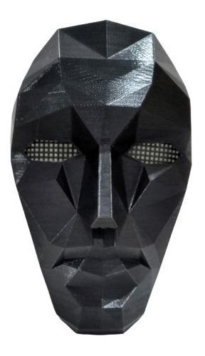 Imagem 1 de 8 de Máscara Preta Em 3d Round 6 Líder Front Man Squid Game