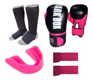 Oferta,kit Boxeo-kick, Unisex, Guantes+tbiales+bucal+vendas