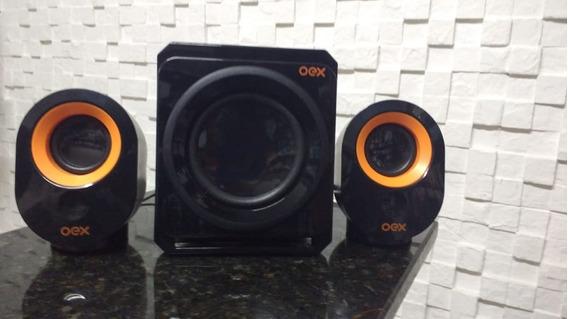 Caixa De Som Speaker Booster Sk500 Bluetooth Preto Usb - Oex