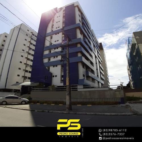 Apartamento Com 3 Dormitórios À Venda, 77 M² Por R$ 360.000 - Tambaú - João Pessoa/pb - Ap4169