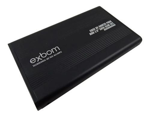 Imagem 1 de 5 de Case Para Hd Notebook Sata Slim 2.0 Externo Exbom Sata