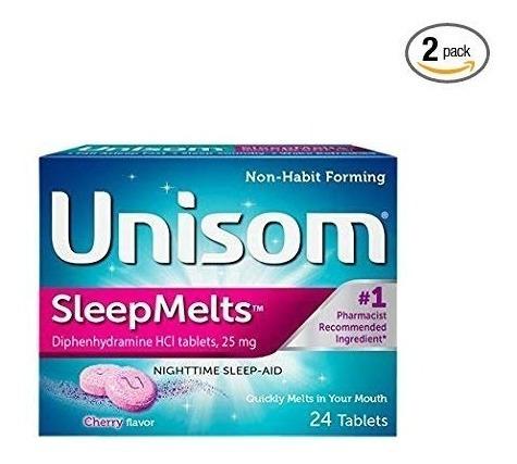 Unisom Sleepmelts 48 Pza Diphenhydramine Hci Ayuda A Dormir