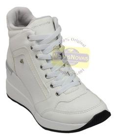 7d635a0644d Tênis Feminino Sneaker Cravo E Canela Branco 100% Original