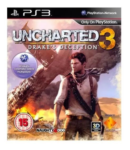 Uncharted 3 Ps3 Português Jogo Original Psn Envio Rápido