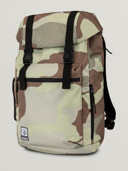 Mochila Volcom, Modelo Mod. Ruckfold Bag, Army Y Black.