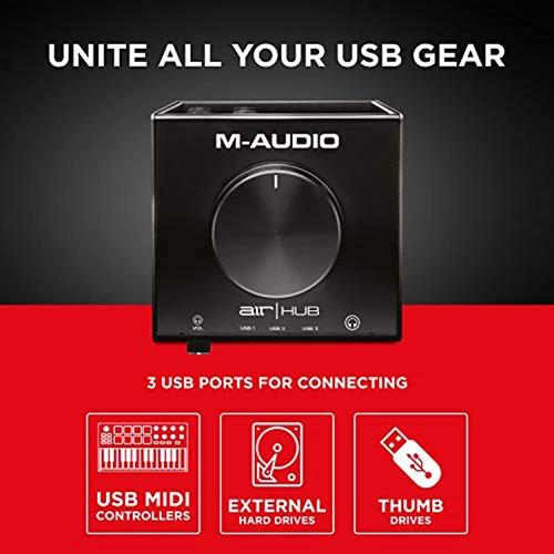 Imagen 1 de 5 de M-audio Air   Hub - Interfaz De Audio Usb Con Hub De 3 Puert