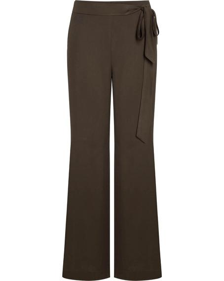 Calça Pantalona Social Viscose Laço Na Cintura Seiki 350269