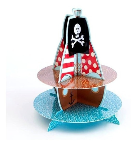 Stand Cup Cakes Pirata
